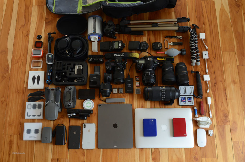 Complete tech gear for a 5 week trip Edition 2020/21