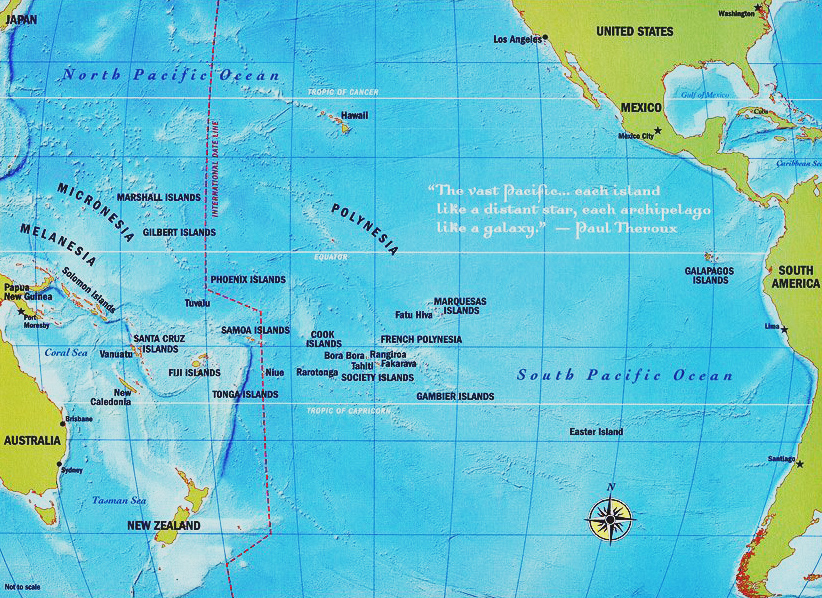 TransPacific 2016 Map of the South Pacific