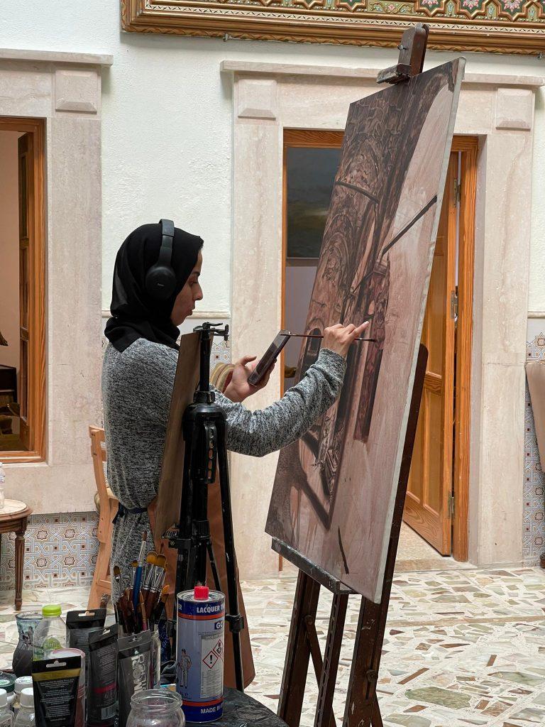 Female Arabic Art Painter